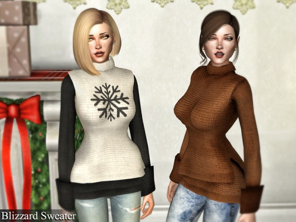 The Sims Resource: Blizzard Sweater by Genius666