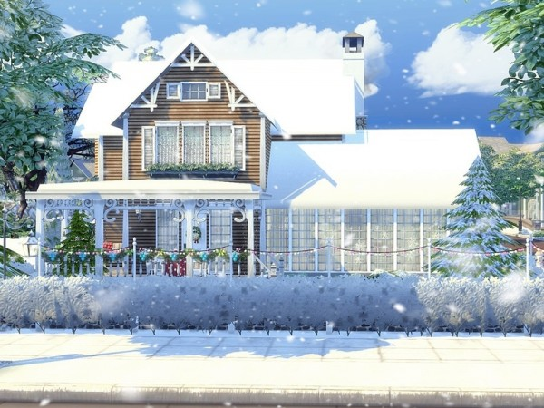 The Sims Resource: White Xmas house by MychQQQ