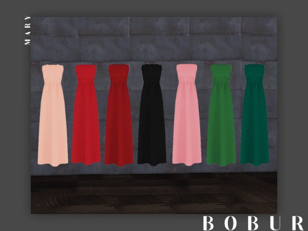 The Sims Resource: Mary Dress by Bobur3