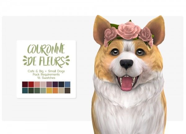Nolan Sims Crown Of Flowers For Pets Sims 4 Downloads