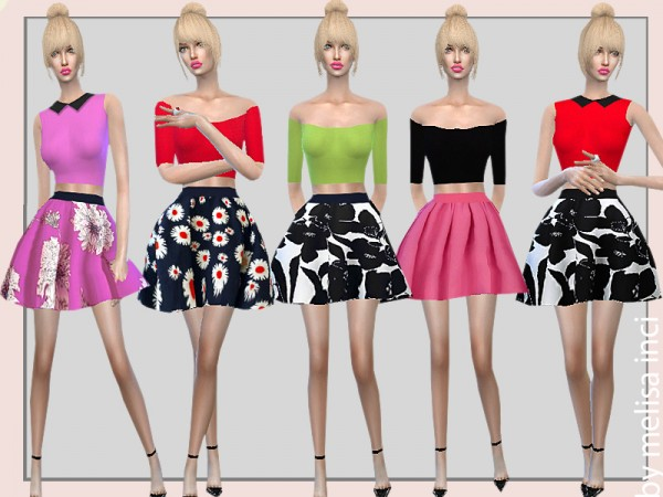 The Sims Resource: Two Piece Short Dress by melisa inci