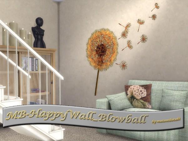 The Sims Resource: Happy Wall Blowball by matomibotaki