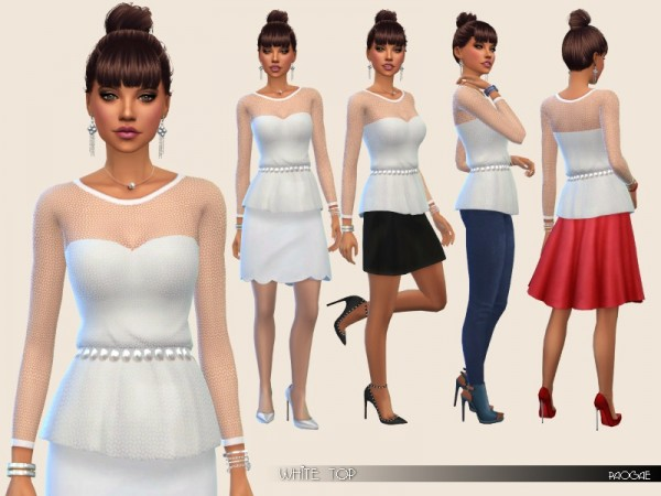 The Sims Resource: White Top by Paogae