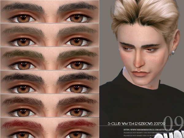 The Sims Resource: Eyebrows M 201709 by S club