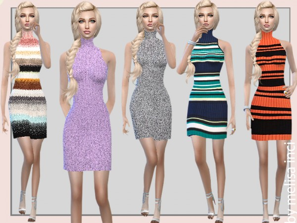 The Sims Resource: Stripe Bodycon Dress by MelisaInci
