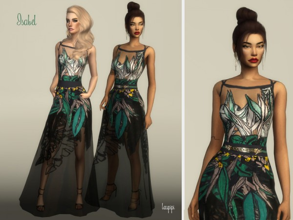 The Sims Resource: Isabel dress by Laupipi