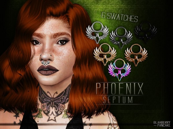 The Sims Resource: Phoenix Septum by Blahberry Pancake