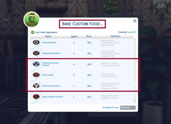 Mod The Sims: Custom Christmas Cookies   Part 1 by icemunmun