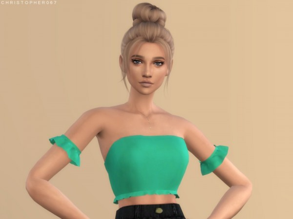 The Sims Resource Gloom Top By Christopher067 Sims 4