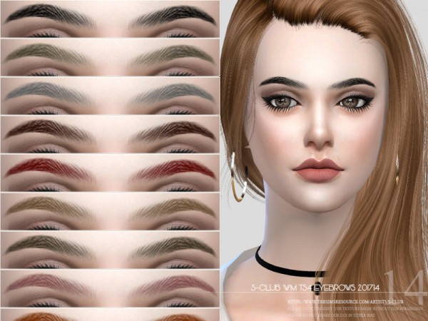 The Sims Resource: Eyebrows F 201714 by S club