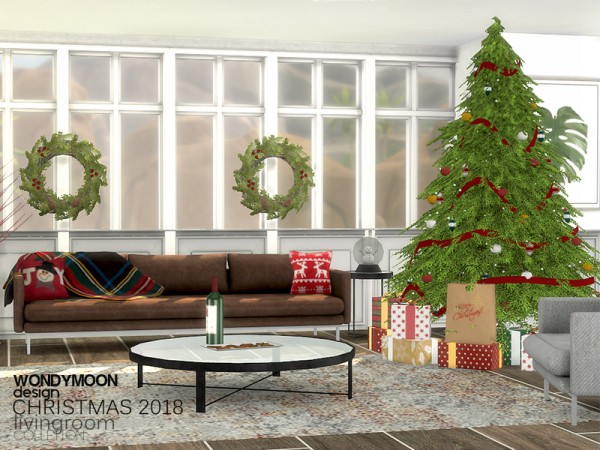 The Sims Resource: Christmas 2018 Livingroom by wondymoon