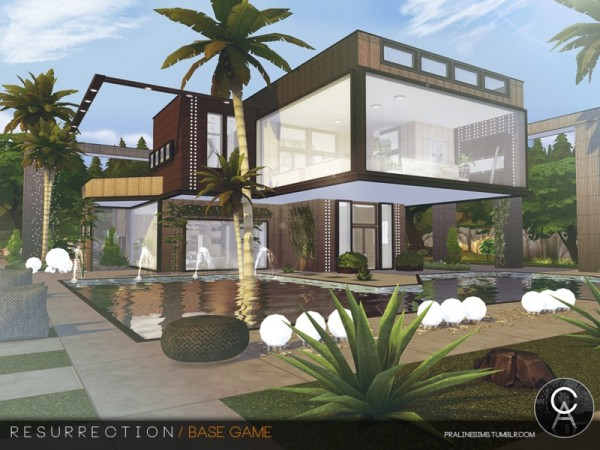 The Sims Resource: Resurrection house by Pralinesims