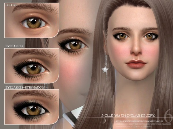 The Sims Resource: Eyelashes 201716 by S Club