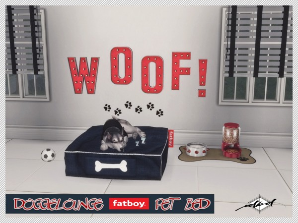 Sims 4 Designs: Doggielounge Stonewash Fatboy Pet Bed