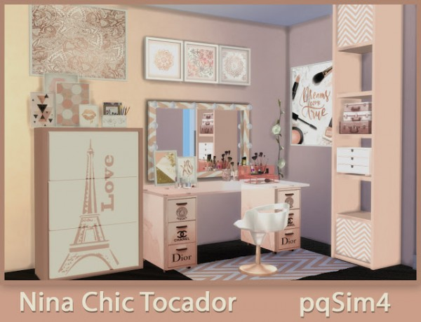 Pqsims4 Nina Chic Dressing Table Sims 4 Downloads