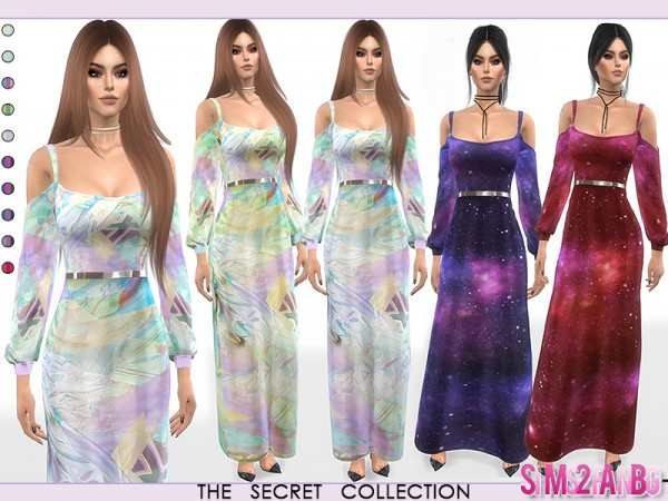 The Sims Resource: 350   Dress With Open Sleeves by sims2fanbg