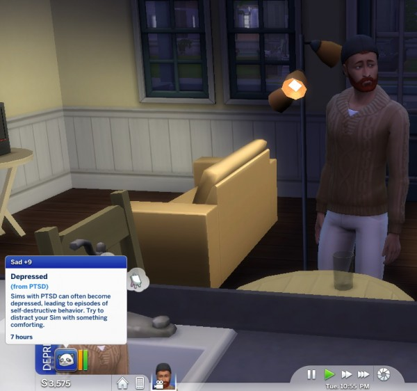 Mod The Sims: PTSD Trait by piebaldfawn • Sims 4 Downloads