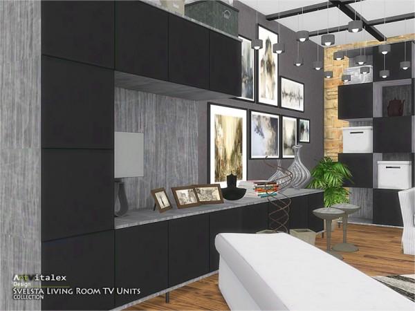 The Sims Resource: Svelsta Living Room TV Units by ArtVitalex