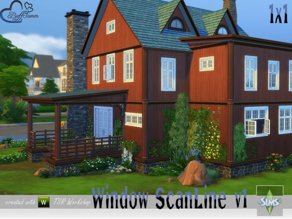 The Sims Resource: Window Set ScanLine v2 by BuffSumm