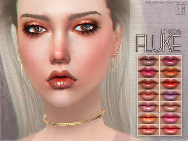 The Sims Resource: Fluke   Lip Colour by Screaming Mustard