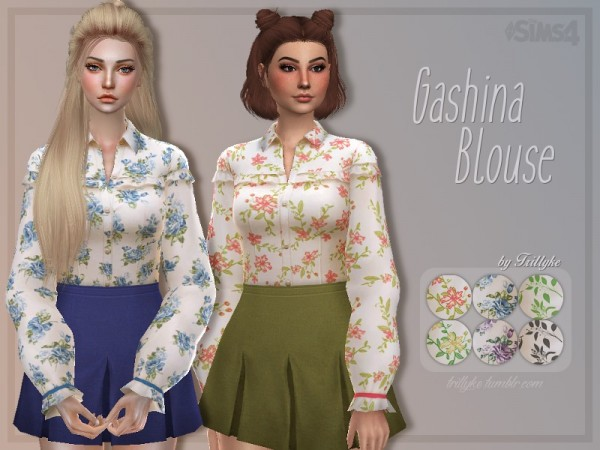 The Sims Resource: Gashina Blouse by Trillyke