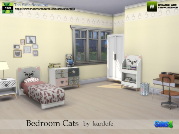 The Sims Resource: Bedroom Cats by kardofe