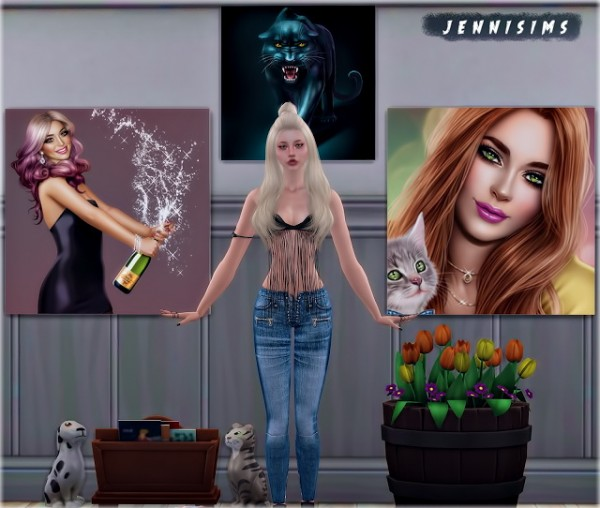 Jenni Sims: Paintings Holiday Puppy