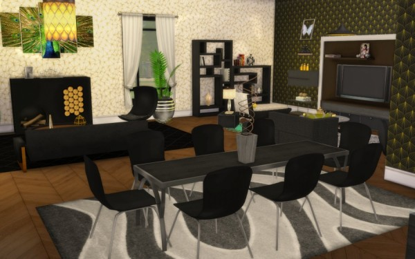 Sims Artists  Chic 5th Avenue Room. Rooms Archives   Sims 4 Downloads