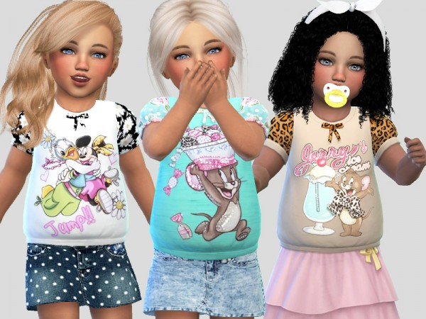 The Sims Resource: T shirts Collection 034 by Pinkzombiecupcakes