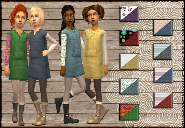 Sims Artists: Snowberry de Buckley dress