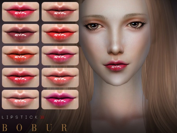 The Sims Resource: Lipstick 38 by Bobur