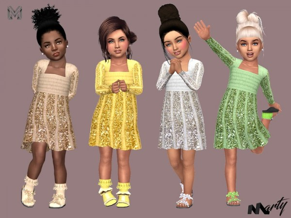 The Sims Resource: Toddler Glitter Dress by MartyP