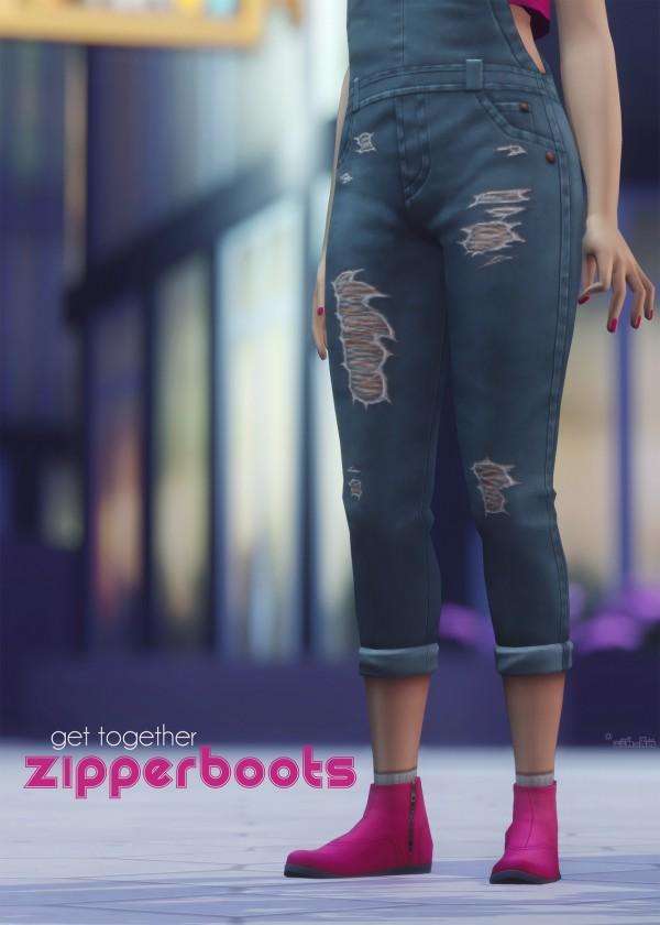 Picture Amoebae: Zipper boots