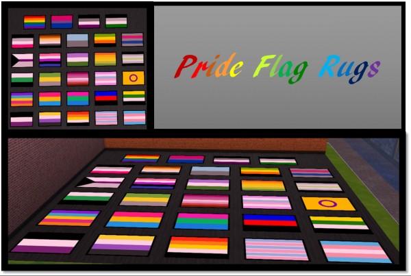 Simsworkshop: Pride Flag Rugs by ElkTreeElf