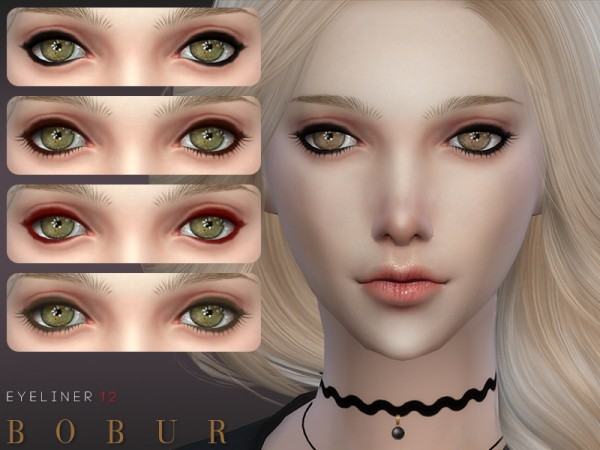 The Sims Resource: Eyeliner 12 by Bobur