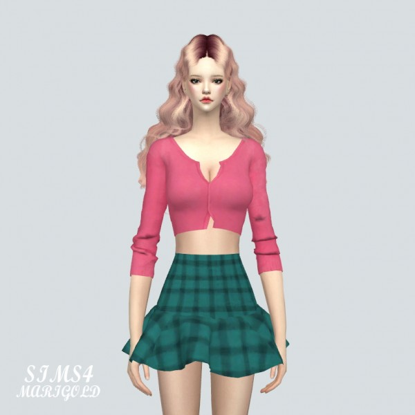 SIMS4 Marigold: Crop Cardigan
