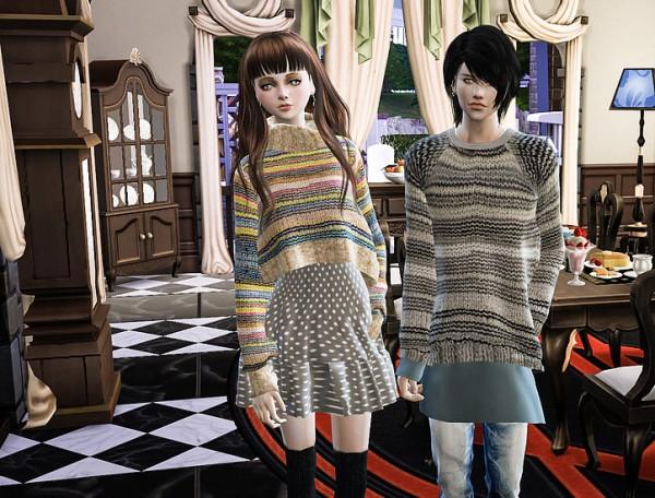 Studio K Creation: Secret Pink high neck sweater dress