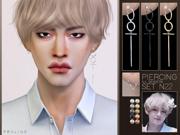 The Sims Resource: Piercing Set N22 by Pralinesims