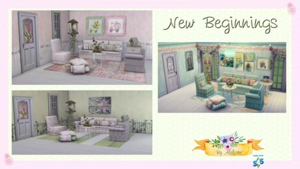 Alelore Sims 4: Nea beginning decor set
