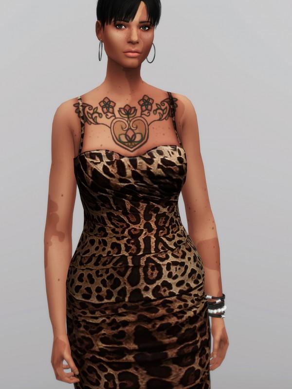 Rusty Nail: Leopard print mid dress