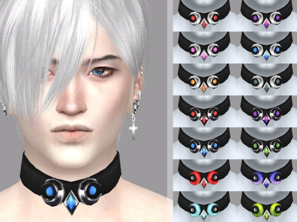 The Sims Resource: Sorrows desire   male choker by WistfulCastle