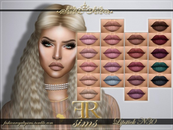 The Sims Resource: Lipstick N30 by FashionRoyaltySims