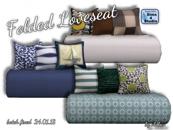 All4Sims: Folded Loveseat by Oldbox