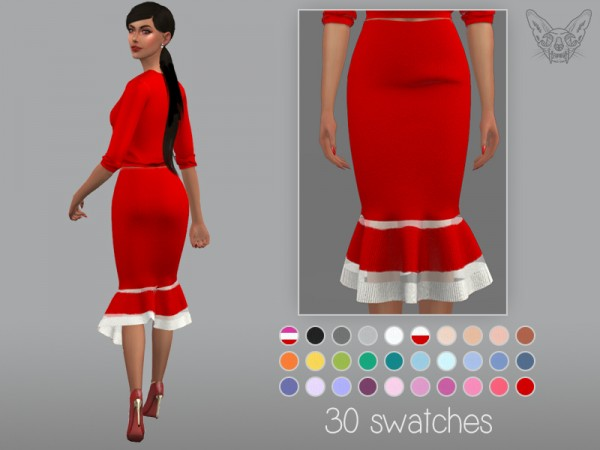 The Sims Resource: Tulip Skirt by feyona