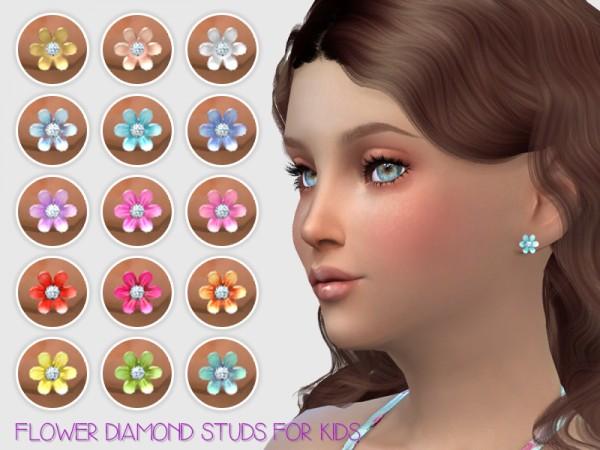Giulietta Sims: Flower Diamond Studs For Kids