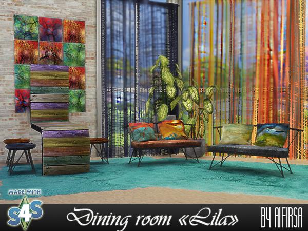 Aifirsa Sims: Diningroom Lila