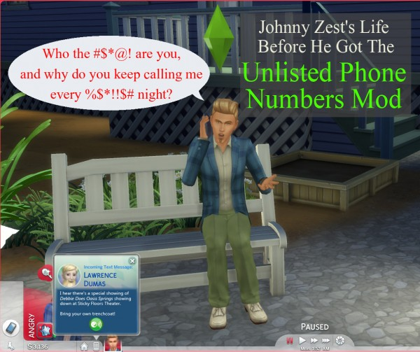 Mod The Sims: Unlisted Phone Numbers by scumbumbo