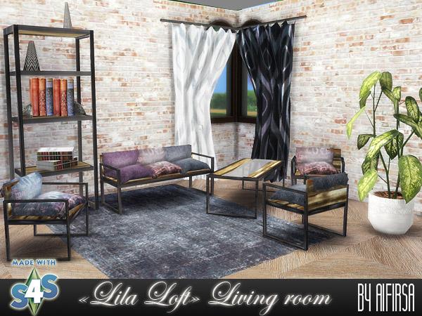 Aifirsa Sims: Livingroom Lila