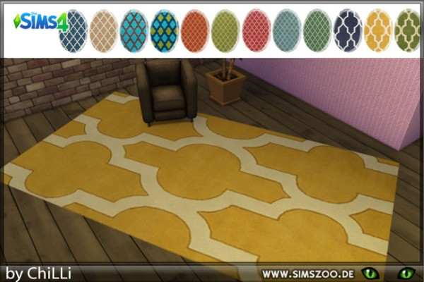 Blackys Sims 4 Zoo: Rug Royal by ChiLLi