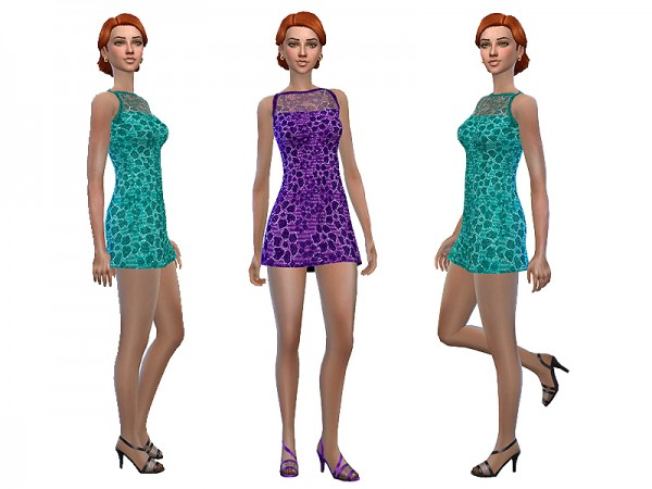 The Sims Resource: Lace dress by Simalicious